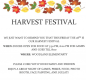 Fun Fall Friday Festival!  Invitation to our Woodland Harvest Festival