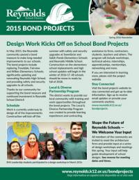 Bond Projects Newsletter - Spring 2016